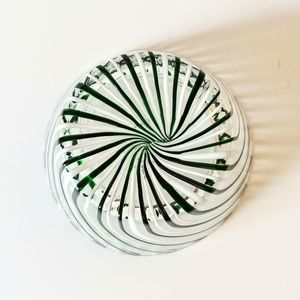 Dining - Striped Candy Dish Eastern Glass Serving Bowl